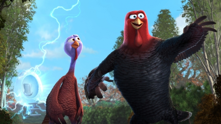 Jake schnappt sich Reggie (links), um mit ihm in die Vergangenheit zu reisen und Thanksgiving zu verändern. (Foto)