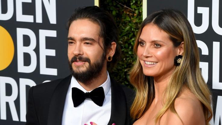 Tom Kaulitz und Heidi Klum bei den Golden Globes 2019. (Foto)