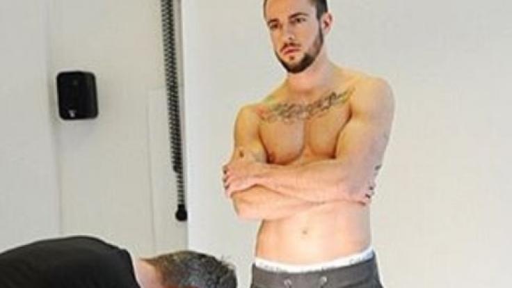 "Benjamin Melzer beim Covershooting für die ""Men's Health"". (Foto)"