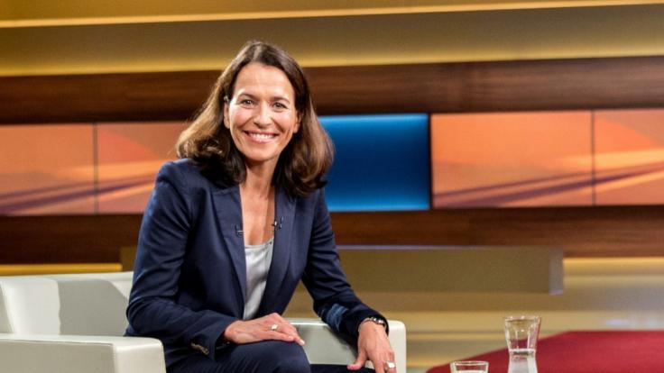 Anne Will im ARD-Studio. (Foto)