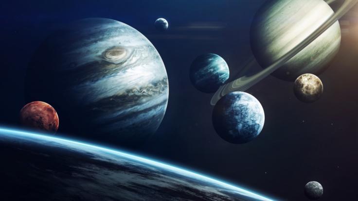Seltenes Kosmos-Phänomen: Das letzte Mal ereignete sich eine Planetenballung dieser Art im Zeichen Wassermann vor 60 Jahren. (Foto)