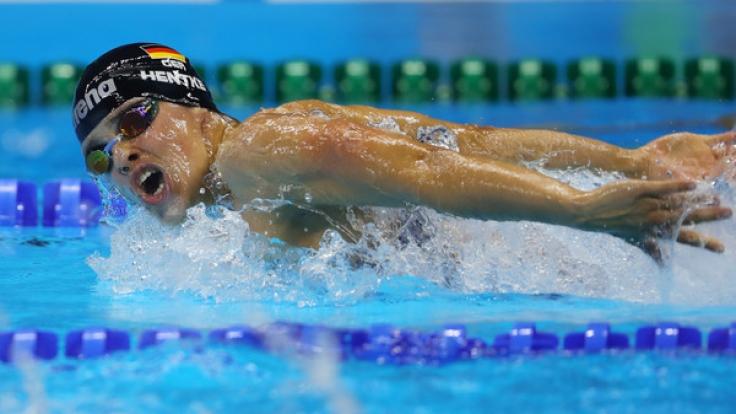 Die deutsche Schwimmerin Franziska Hentke steht bei der Schwimm-WM 2017 in Budapest in den Startlöchern.