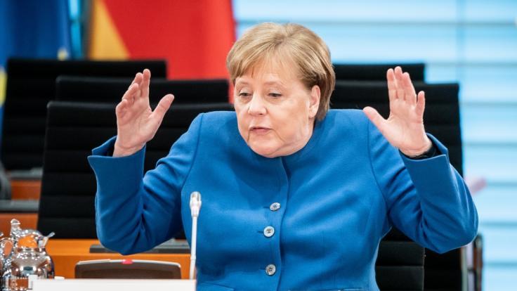 Angela Merkel hat am Donnerstagvormittag eine Regierungserklärung abgegeben. (Foto)