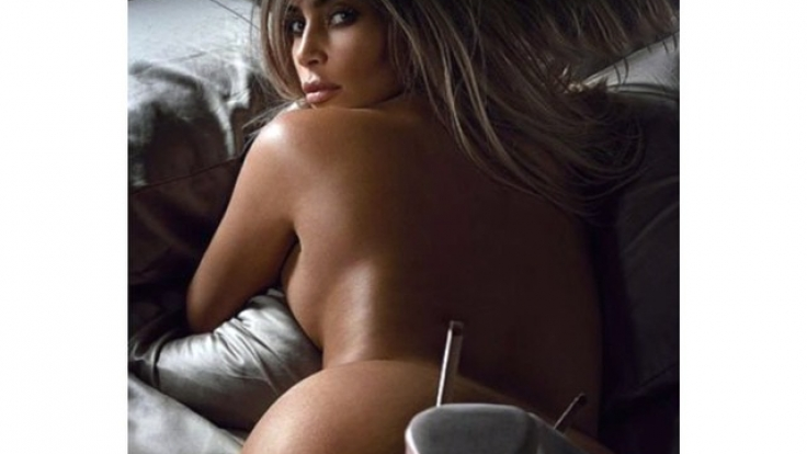 Nackt in der britischen GQ: Kim Kardashian. (Foto)
