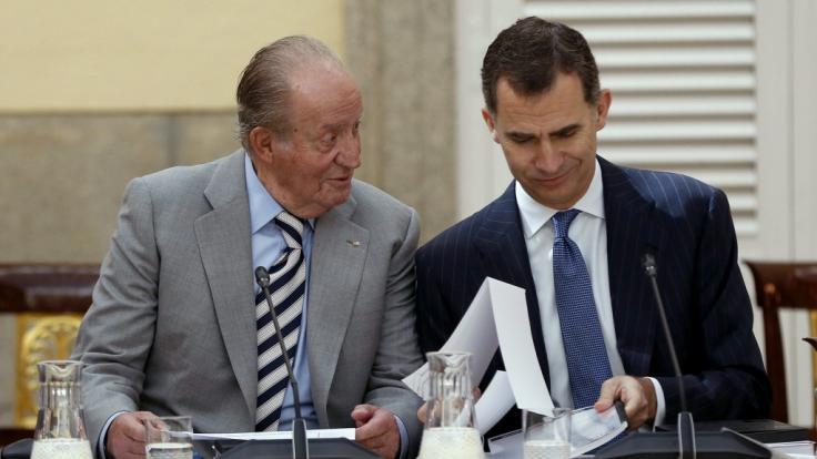 König Felipe von Spanien soll mit seinem Vater Juan Carlos gebrochen haben. (Foto)