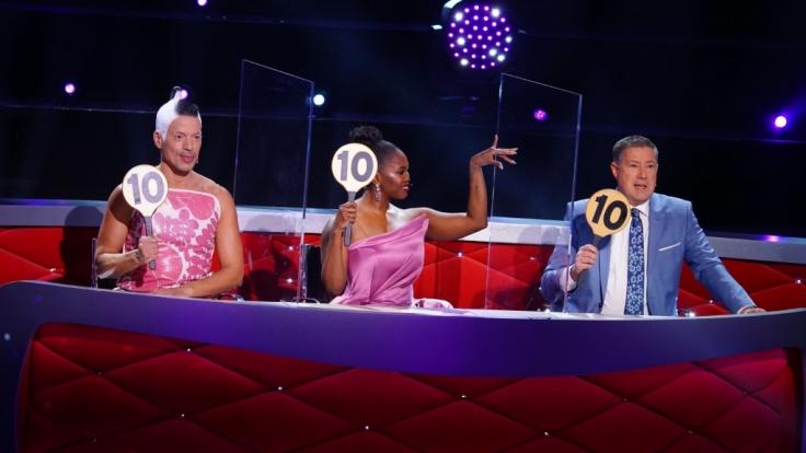 "Die ""Let's Dance""-Juroren Jorge González, Motsi Mabuse und Joachim Llambi. (Foto)"