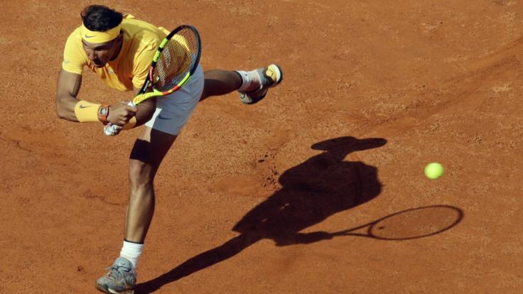 Der Spanier Rafael Nadal hat das Finale bei den ATP Rome Masters 2018 erreicht.