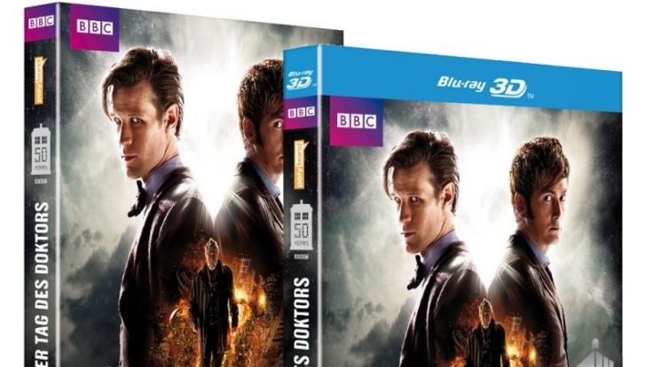Die Jubiläumsfolge «Der Tag des Doktors» ist seit dem 20. Dezember 2014 als DVD und Blu-ray 3D erhältlich.