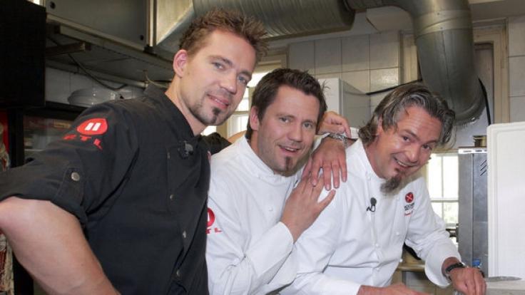 """Andreas Schweiger (l) mit den Kollegen der RLT2-Show """"Die Kochprofis"""". (Foto)"""