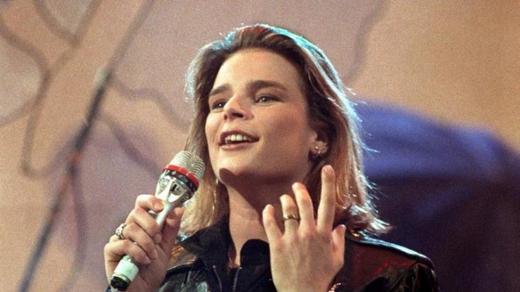 """Stéphanie von Monaco in der ZDF-Show """"Wetten, dass ...?"""" am 13. April 1991. (Foto)"""