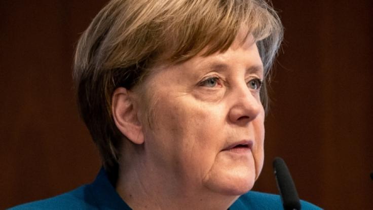 Bundeskanzlerin Angela Merkel fordert einen entschlossenen Kampf gegen die Ausbreitung des Coronavirus. (Foto)