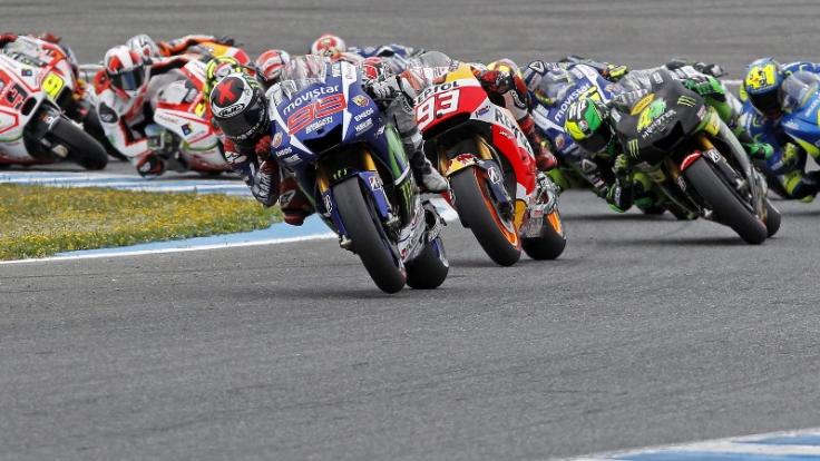 Zum neunten Rennen der MotoGP-Saison heizten Lorenzo, Marquez und Co. über den Sachsenring.