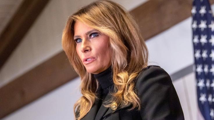 Ex-First Lady Melania Trump hat ihren Mann Donald Trump am Valentinstag ignoriert. (Foto)