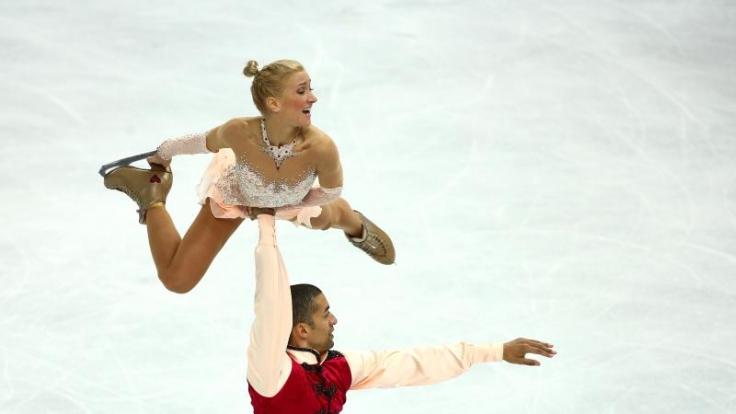 Aljona Savchenko und Robin Szolkowy holten Bronze.