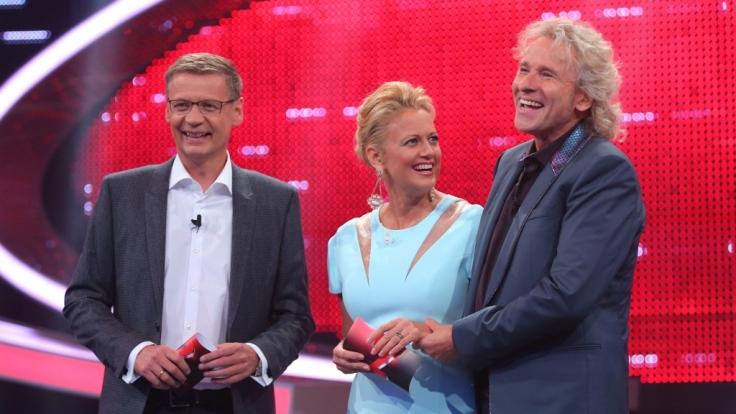 RTLs Dreigestirn schlägt wieder zu: Günther Jauch und Thomas Gottschalk mit Barbara Schöneberger.