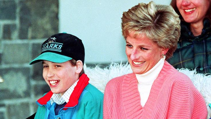 Prinz William mit seiner Mutter Lady Diana im Jahr 1994.