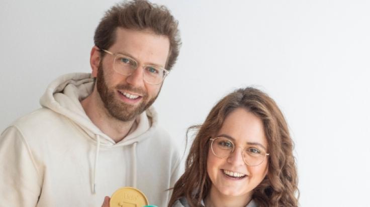 """Die DHDL-Gründer von """"Udo"""": Dennis Krey und Carina Frings (Foto)"""