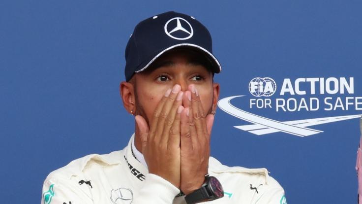 Lewis Hamilton richtete einen Twitter-Post direkt an Schumi. (Foto)