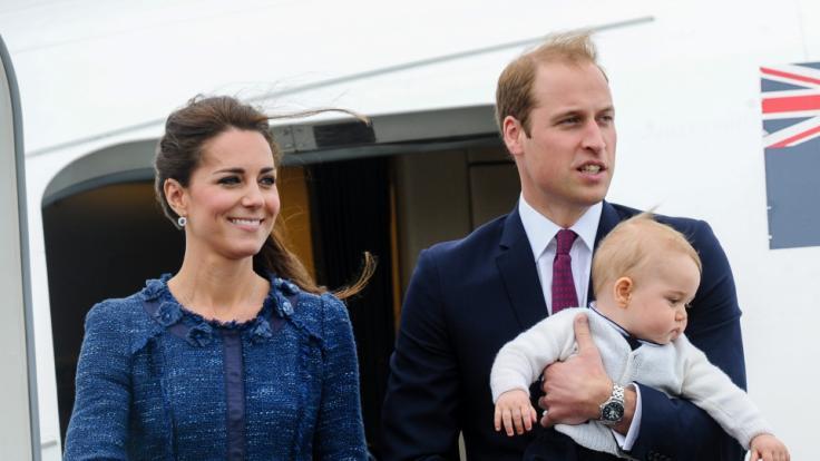 Herzogin Kate und Prinz William vor ihrer Abreise nach Neuseeland im Jahr 2014. (Foto)