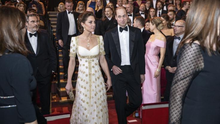 Kate Middleton und Prinz William wohnten den BAFTA-Awards 2020 als royale Ehrengäste bei.