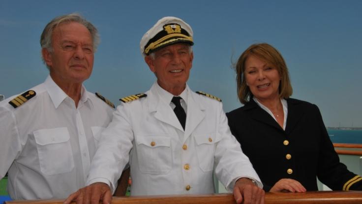 """Die """"Traumschiff""""-Crew auf dem Weg nach Panama: Horst Naumann, Siegfried Rauch, Heide Keller (v. li. n. re.). (Foto)"""