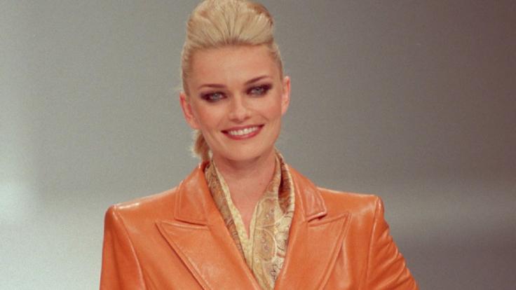 Top-Model Paulina Porizkova 1997 in Poing. (Foto)