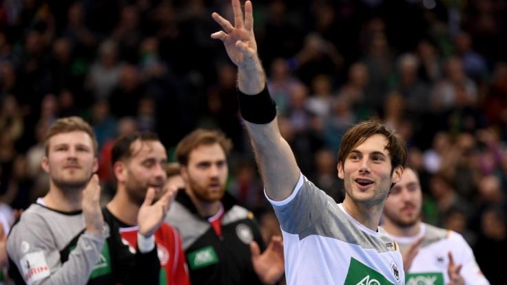 Der deutsche Handballer Uwe Gensheimer: Deutschland startete mit klarem Sieg gegen Montenegro in die EM.