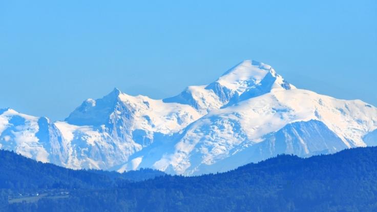 Am Mont Blanc ist eine Lawine abgegangen. (Foto)