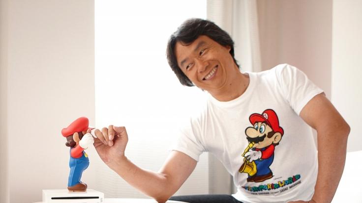"""""""Super Mario"""" und Serienschöpfer Shigeru Miyamoto. Auch auf der neuen Nintendo-Konsole dürfte der Klempner einen Auftritt haben. (Foto)"""