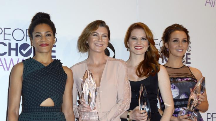 """Die """"Grey's Anatomy""""-Darstellerinnen Kelly McCreary, Ellen Pompeo, Sarah Drew und Camilla Luddington. (Foto)"""
