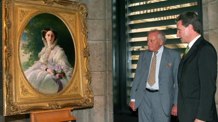 Das Gemälde von Franz Xaver Winterhalter zeigt Olga Nikolajewna Romanowa, die 1892 verstorbene Ehefrau von König Karl I. von Württemberg, als junge Frau in einem Ballkleid. (Foto)
