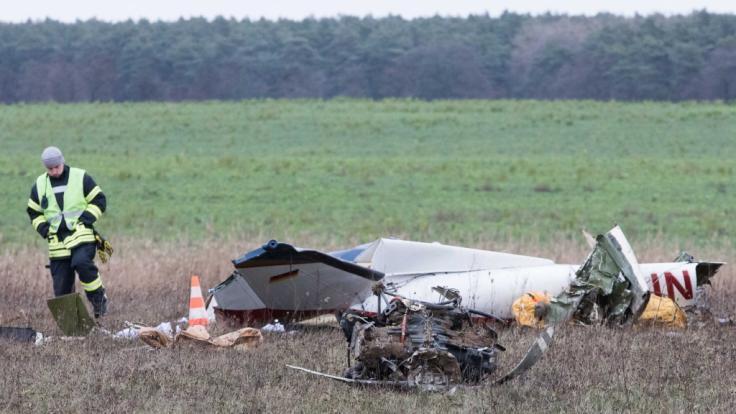 In Brandenburg ist ein Motorflugzeug abgestürzt. (Foto)