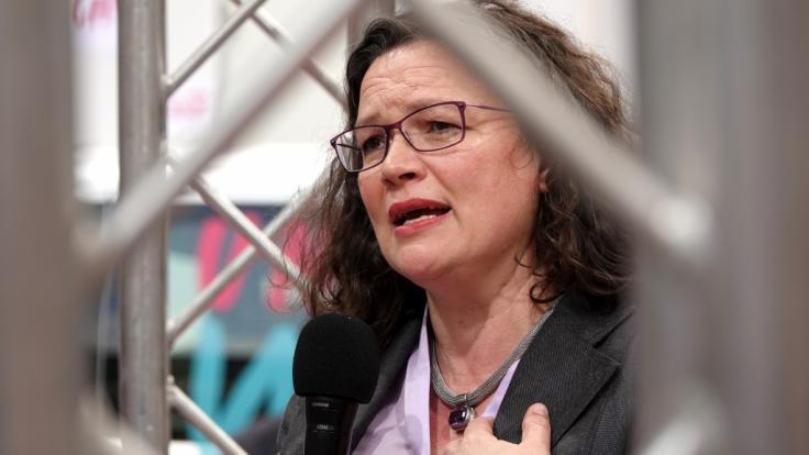 SPD-Chefin Andrea Nahles will sich vorzeitig Neuwahlen zum Fraktionsvorsitz der Sozialdemokraten stellen.