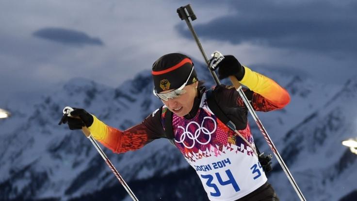 Andrea Henkel ist nach ihrer Erkältung wieder einsatzfähig. Bei der Mixed-Staffel durfte sie deswegen nicht starten.