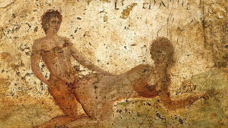 Sex mit Prostituierten war keine Schande im alten Rom. Ein Wandbild aus Pompeji. (Foto)