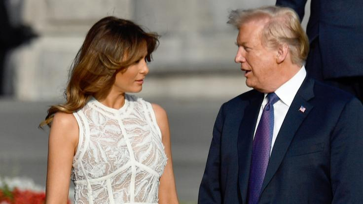 Immer wieder gibt es Gerüchte über den Zustand der Ehe von Donald und Melania Trump. (Foto)