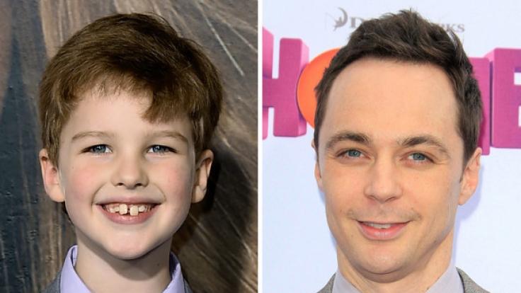 Der junge und der erwachsene Sheldon Cooper: Iain Armitage (li.) und Jim Parsons.