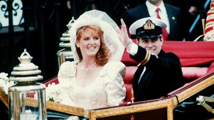 """Prinz Andrew und Sarah """"Fergie"""" Ferguson gaben sich am 23. Juli 1986 das Ja-Wort. (Foto)"""