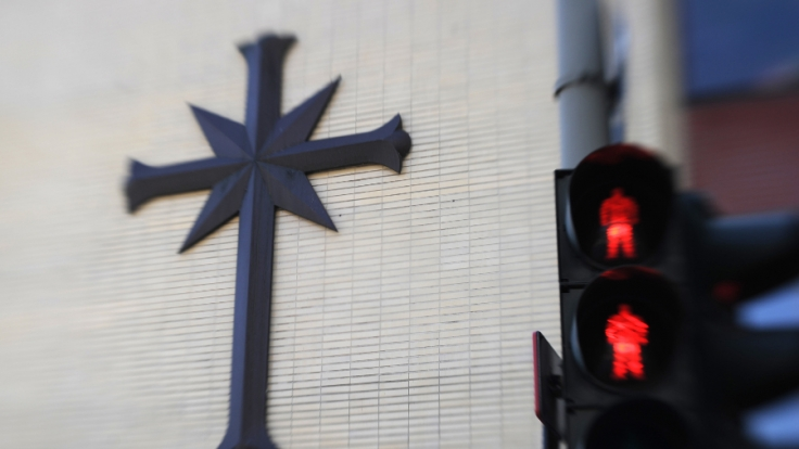 Das Logo der Scientology-Organisation: Diese Sekte wurde vor allem durch ihre prominenten Mitglieder weltweit bekannt. (Foto)
