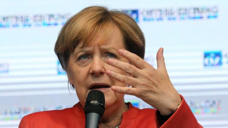 """In der """"Wahlarena"""" stellt sich Angela Merkel den Fragen der Zuschauer. (Foto)"""