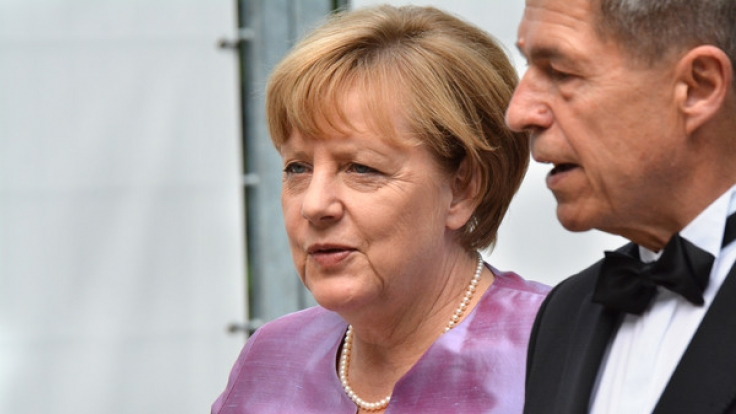 Angela Merkel mit ihrem Ehemann Joachim Sauer. (Foto)