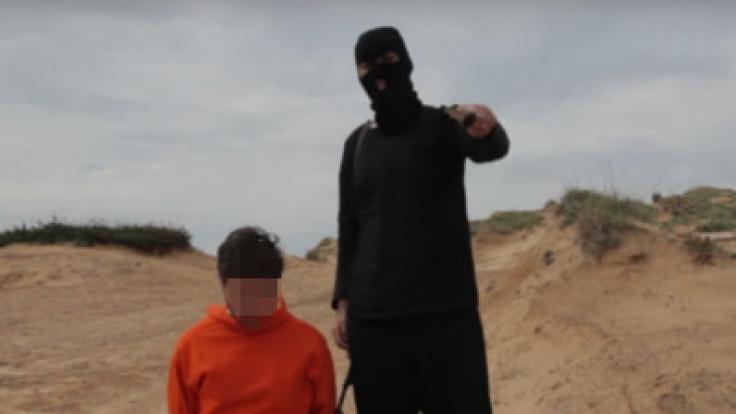 Israelische Comedians beim Nachstellen einer IS-Hinrichtung. (Foto)