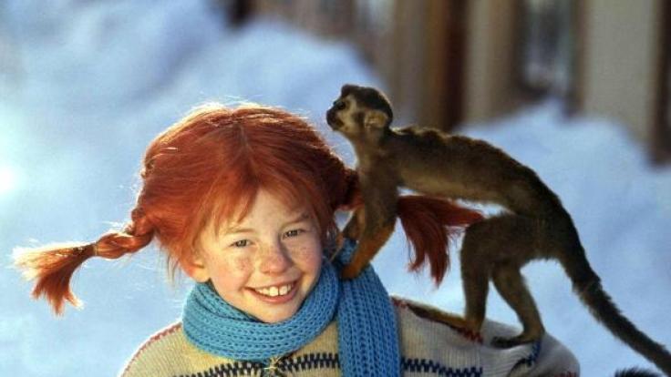 Inger Nilsson in ihrer Rolle als Pippi Langstrumpf. (Foto)