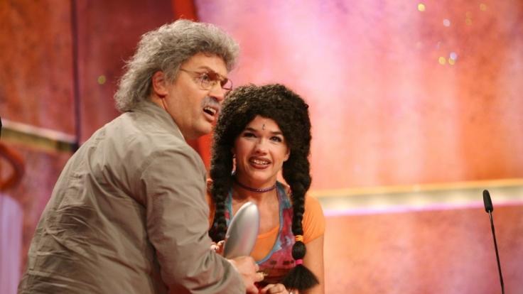 Hape Kerkeling als Horst Schlämmer und Anke Engelke alias Ricky beim Deutschen Comedy Preis 2006.