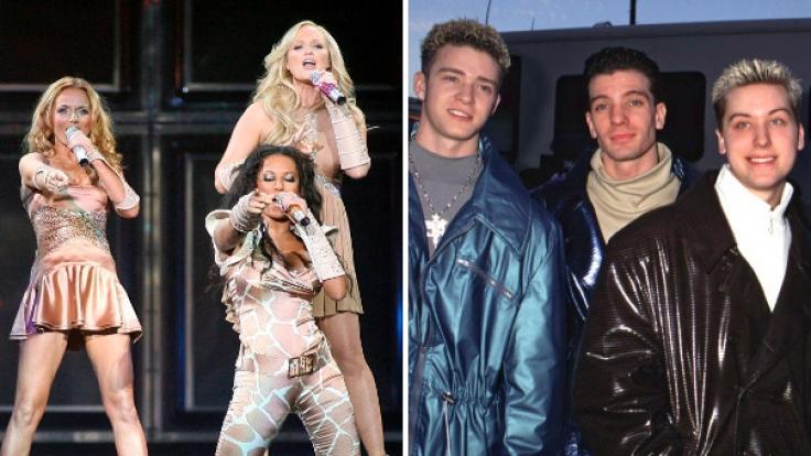 Stars der 90er: Spice Girls und N'Sync.