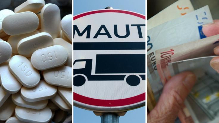 Ab Juli 2018 treten in Deutschland einige neue Gesetze in Kraft - unter anderem zu Warnhinweisen für Schmerzmittel, Lkw-Maut und Rente.