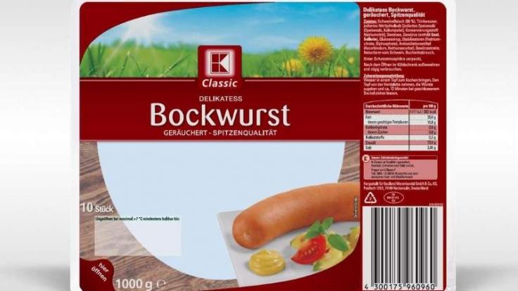 Die Supermarktkette Kaufland hat Bockwürste der Sorte K-Classic Delikatess Bockwurst zurückgerufen.