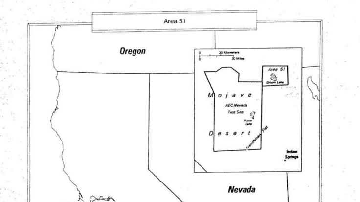 Eine vom CIA freigegebene Karte der