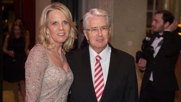 Der Fernsehshowmaster Frank Elstner und seine Frau Britta.