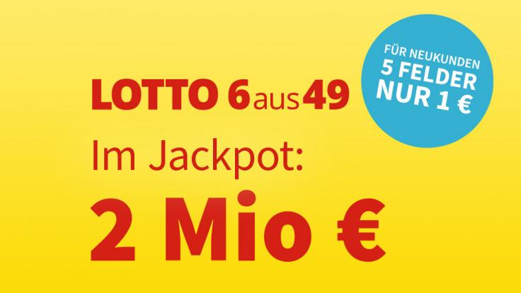 Am Mittwoch, 14.04.2021, liegen 2 Millionen Euro im Lotto-Jackpot. (Foto)
